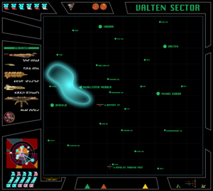 Cardassian map of Valten Sector