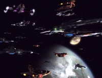 The combined Dominion-Cardassian-Breen fleet.