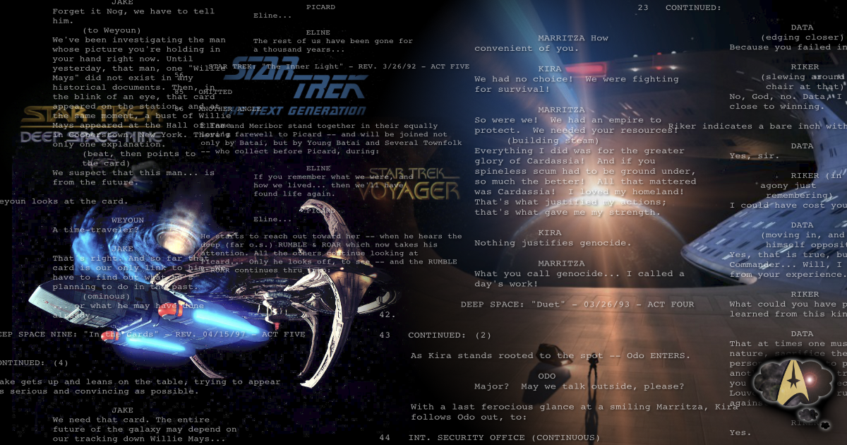Collected Star Trek Scripts Star Trek Minutiae You have complete control over the styling of the path & the attached objects. star trek scripts star trek minutiae