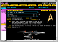 Screenshot of Starfleet Reference Databank