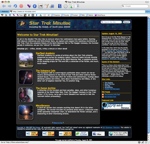 Screenshot of STM home page, version 6