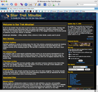 Screenshot of STM home page, version 4