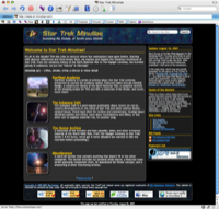 Screenshot of STM home page, version 5