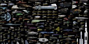 Sci Fi Ship Size Comparison Chart