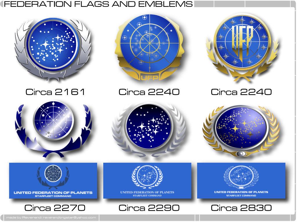 Star Trek Logos Federation And Member Worlds Star Trek Minutiae